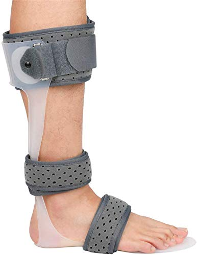 Wxnnx AFO Brace Drop Foot Support Férula Médico Tobillo Pie Ortesis Soporte Drop Foot Corrección postural Brace,Left,M