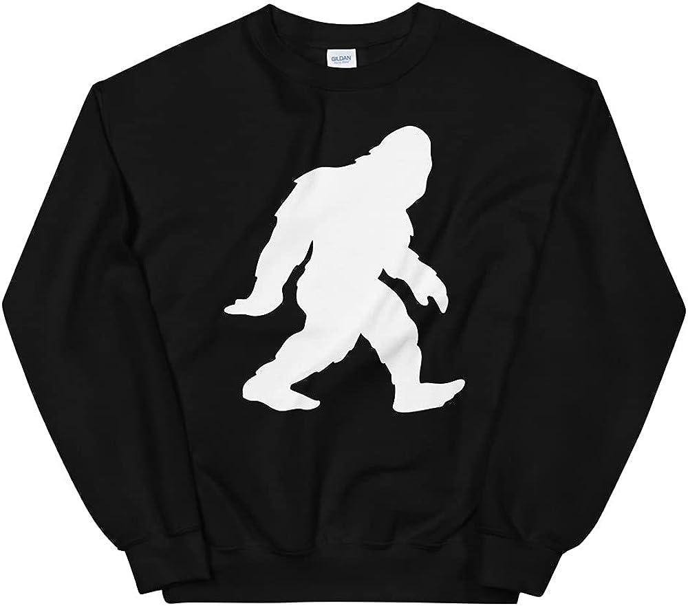 Sasquatch Bigfoot Yeti Walking Silhouette Unisex Sweatshirt