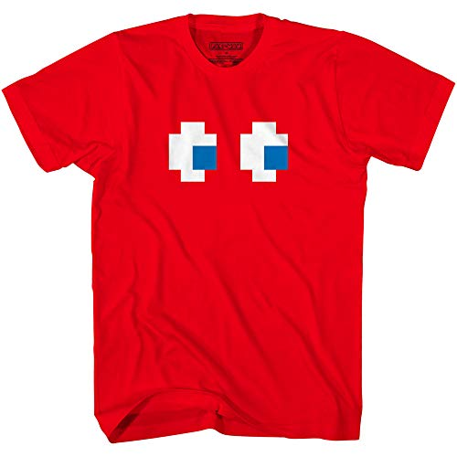Pac-Man Red Blinky Ghost Eyes T-shirt for Adults, 3 Other Ghosts Available.XS to 3XL