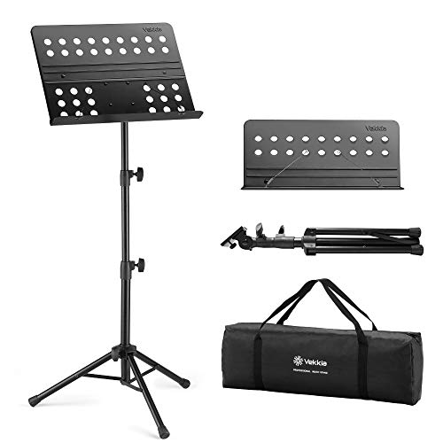 Vekkia Sheet Music Stand - Professional Portable Music Stand with Carrying Bag, Metal...