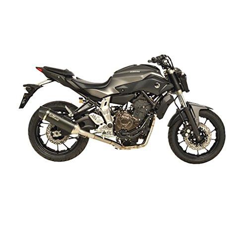 LeoVince Nero 14018 Pot d'échappement Kit complet 2-1 En acier Inoxydable Pour Yamaha MT-07 RM04 | Yamaha MT-07 ABS RM04 | Yamaha MT-07 Moto Cage ABS Noir