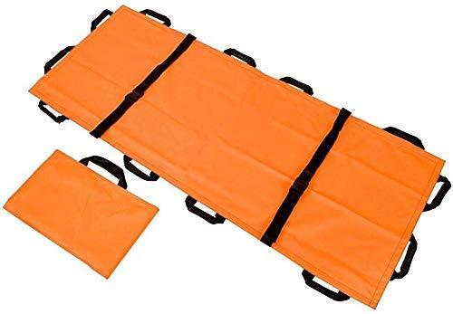 Emergency Rescue Flat Opklapbaar Portable Brancard, Verdikte Canvas 12 Handvatten Soft EHBO Huis Huishouden Medical Stretcher Met Handtas Voor Ziekenhuizen, Ambulances