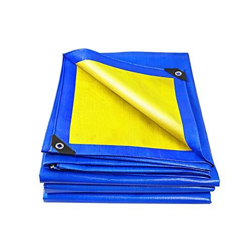 QYQPB Al Aire Libre Cubierta Lona, Lonas For Patios, Azul Y Amarillo De La Trenza, Universal En Todas Las Estaciones, Usado Andamio Red de sombreado (Size : 4 * 6m)
