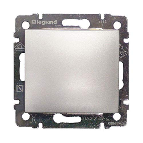 Legrand - 770101 interruptor 10ax/250v aluminio valena Ref. 6561050001