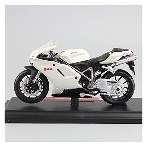 El Maquetas Coche Motocross Fantastico 1:18 para Ducati Niños Superbike 848 EVO 2017 Motocicleta Metal Bicicleta Carrera Diecast Modelo Colección Juguetes Vehículos para Regalos Juegos Mas Vendidos