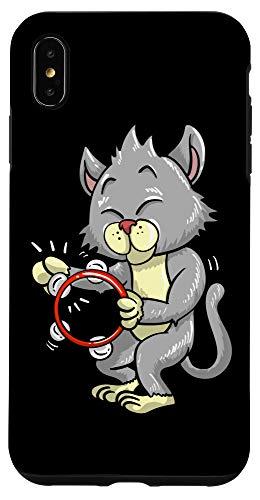 iPhone XS Max Funny Cat Playing Tambourine Gift | Cute Kitten Musician Fan Case
