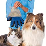 Happy home Pet Grooming Pet Grooming Gloves - Dog, Cat Bathing Scrubber Gloves - Pet Hair Remover Gloves - Deshedding, Massage for Cats, Dogs, Rabbit and Small Pets Pack-1