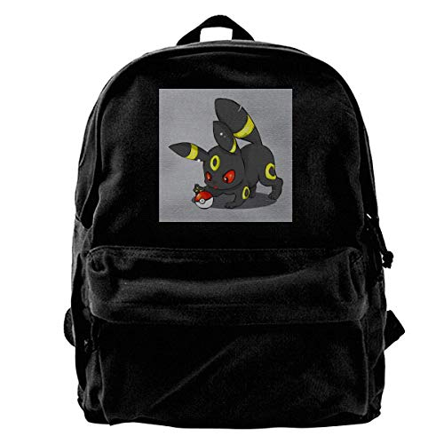 maichengxuan Canvas Backpack Cute Umbreon of The Pocket Rucksack Gym Hiking Laptop Shoulder Bag Daypack for Men Women