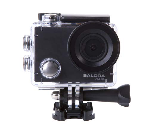 Salora ACE500 - Action Camera - Ultra HD - 4K - Wifi - Display - Accessoires