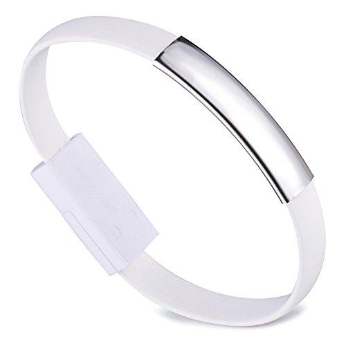 Unendlich U Armband Micro USB Ladekabel Datenkabel Kabel für Android Handy Samsung HTC Nokia BlackBerry Moto LG Sony Xperia Lenovo Huawei ZTE und mehr Smartphones-6 Farbenoptionen
