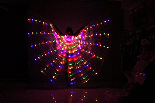 Tofern Gonna da Ballo Festivo Ali per Danza con LED Bastoncini telescopici a 360 Gradi per palcoscenico, Natale, Feste Cosplay