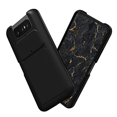 RhinoShield Case Compatible with ASUS [Zenfone 7/7 PRO] | SolidSuit - Shock Absorbent Slim Design Protective Cover [3.5M / 11ft Drop Protection] - Classic Black