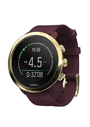 Suunto 3 Fitness Sports Watch with Wrist-Based Heart Rate, 24/7 Activity and Recovery Tracking - Burgundy