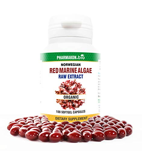 Organic Norwegian Red Algae, Very Potent, Contains Raw Extract, 100 Soft Capsules
