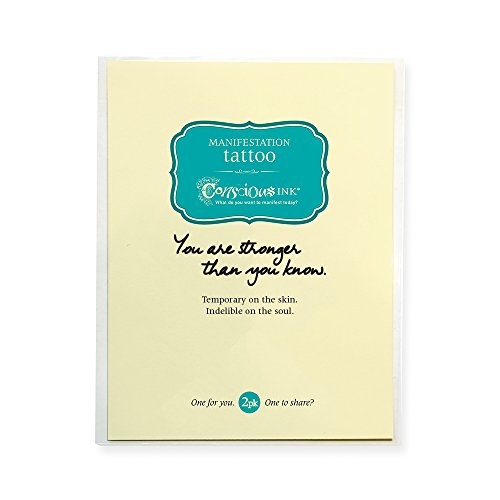 Conscious Ink Manifestation Tattoo 2-Pack You Are Stronger Than You Know (Set of 2)