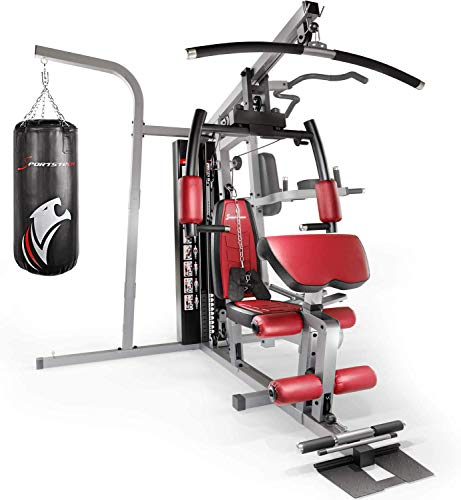 Sportstech Premium 50in1 Kraftstation für EIN Allround Training | Multifunktions-Heimtrainer mit Stepper & LAT-Zugturm | HGX Fitness-Station aus Eva Material | Robust für Zuhause (HGX260)