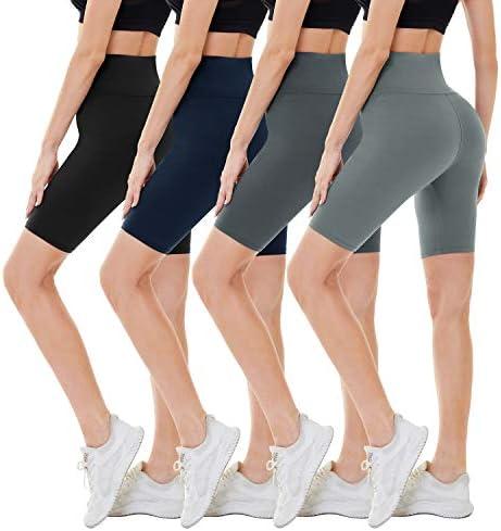 CAMPSNAIL 4 Pack Biker Shorts for Women 8 High Waist Workout Biker Yoga Running Compression product image