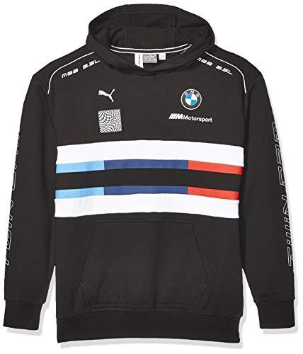 PUMA BMW Motorsport Street Midlayer Sudadera con Capucha para Hombre, Hombre, Sudadera con Capucha, 59518101, Grande, PUMA Black