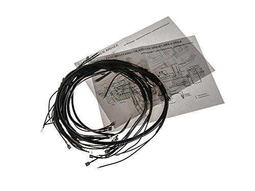 AKA Electric Kabelbaumset, Basisausstattung mit Schaltplan - für Simson KR51 Schwalbe, SR4-2 Star, SR4-3 Sperber, SR4-4 Habicht