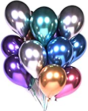 Metallic Balloons Party Decoration,12inch 50 Pcs Latex Metallic Chrome Balloon Birthday Balloons Helium Shiny Balloons Party for Compatible Wedding,Prom,Birthday,Baby Shower,Christmas,Graduation Party