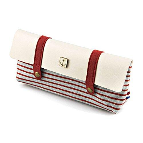 [Japonic] 帆布+PUレザー セーラーバッグタイプ ペンケース おしゃれなバッグタイプ! 3種類の色で展開 (...