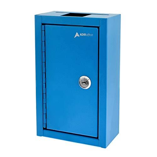 AdirOffice Large Key Drop Box (Open Drop Box, Blue)