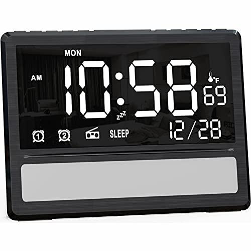 SICSMIAO Digital Alarm Clock Radio
