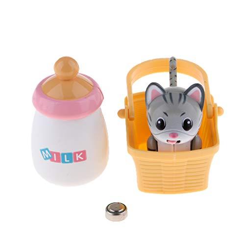 Baoblaze Smart Puppy Chupando Juguetes de Biberón para Mascotas Gato Y Perro, Cabeza, Movimiento, Lengua, Inducción - Color 3