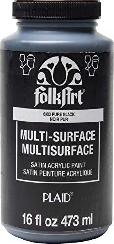 Pure Black Acrylic Craft Paint