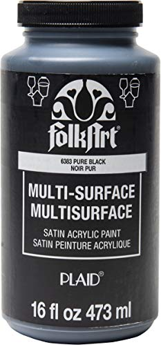 Pure Black Acrylic Craft Paint