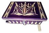 AZI Nueva Gran Caja Enorme Caja de Rompecabezas de Madera Secreto Misterio Tesoro mágica de la joyería Aventura de Almacenamiento Tallada Caja Puzzle Juguete para niños (Violeta Deep)