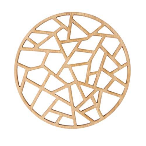 Hemoton 1 Pieza Retro Mantel Individual de Bambú Salvamanteles Redondos para Cocina Oficina