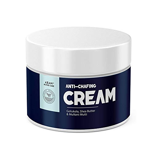 Azani Active Care Natural Anti Chafing Cream   Intimate Area Cream   Multi-Purpose Healing Cream for Rashes, Blisters, Thigh Rub, Itchy & Sore Skin from Sports & Fitness Activities   Multani Mitti, Shea Butter & Gotukola (Men & Women) - 50 gm
