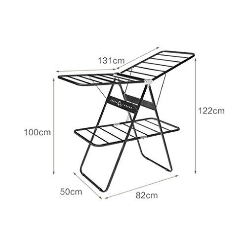 Pliage double-séchage grilles plancher séchage supports balcon bébé couches supports de séchage étagères séchage intérieur grilles