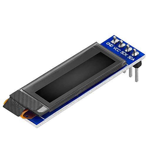 AZDelivery 0.91 pulgadas Pantalla OLED Display I2C 128 x 32 pixeles con caracteres blancos compatible con Arduino y Raspberry Pi con E-Book incluido!