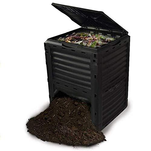 ZHANGYY Contenitore per Compost da Giardino, Contenitore per rifiuti da Esterno di Grande capacità, Realizzato in plastica Riciclata al 90%, 80 galloni (300 l), Montaggio Facile, creazione