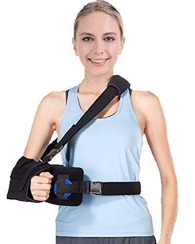DouHeal Shoulder Abduction Sling, Soft & Comfortable Arm Sling Immobilizer for Shoulder Injury, Torn Rotator Cuff, Sublexion, Surgery, Dislocated, Broken Arm with Abduction Pillow & Exercise Ball