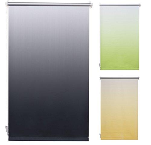 Garduna Flow Thermo-Rollo Verdunkelung + Klemmfix ohne Bohren + 80 x 150 cm *anthrazit mit Farbverlauf* + weitere Farben und Größen