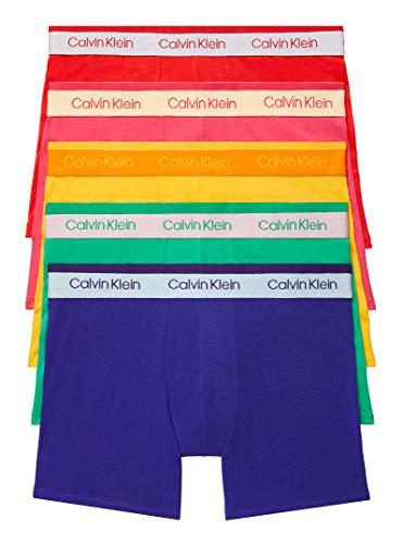 Calvin Klein Men's The Pride Edit 5-Pack Boxer Brief, Fury/Freedom/Chrissie Pink/North Star/Summer, Medium