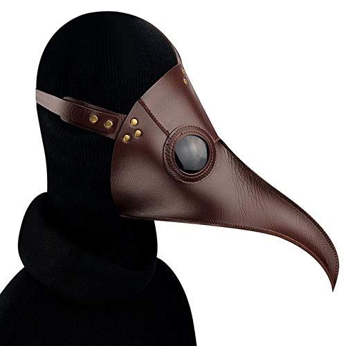 MSSJ pest doktor Maske schnabel doktor Maske Lange Nase Cosplay Phantasie Maske Gothic Retro Rock Leder Halloween schnabel MaskeKaffee