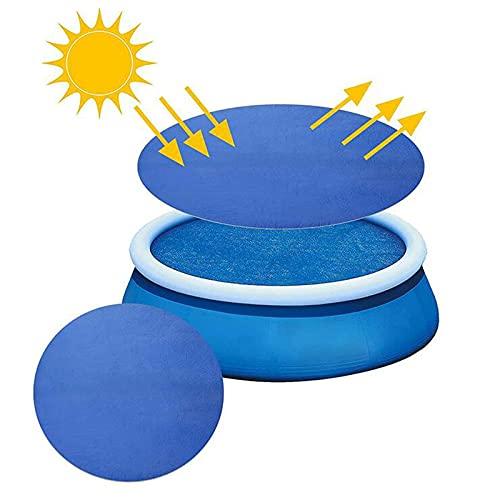 Poolheizung Solar,Solarabdeckung Rund,Pool Abdeckungen Kuppel,Solar Solarplane für Rund Pool,Solar Poolabdeckung Zur umweltfreundlichen und sparsamen Erwärmung von...