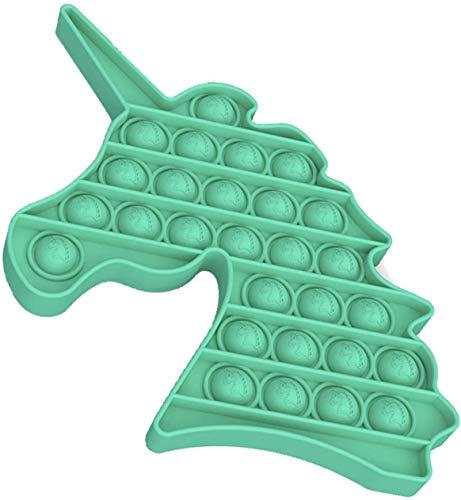 Juguete sensorial Push Pop Bubble Fidget Pop para niños y niñas de 3 a 12 años de edad, juguete de unicornio para aliviar la ansiedad, juguete para aliviar el estrés