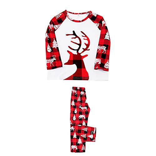 Hengyouhui Schlafanzug Pyjama Set Zweiteilige Nachtwäsche Langarm Sleepwear Hausanzug Rundhals Sleepshirt & Pyjamahose für Herbst Winter