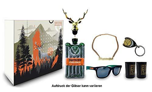 Jägermeister Giftbox Geschenkset - 7teilig mit Jägermeister Coolpack 0,35l (35% Vol) Kräuterlikör Bar Drink- [Enthält Sulfite]