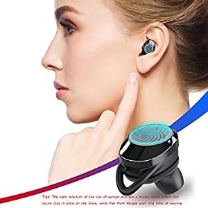 TWS Wireless Earbuds, True Wireless Bluetooth 5.0 Earphones, Smart in-Ear Buds for Sports with Mini Charging Case(Upgraded Chip &New PKG)…
