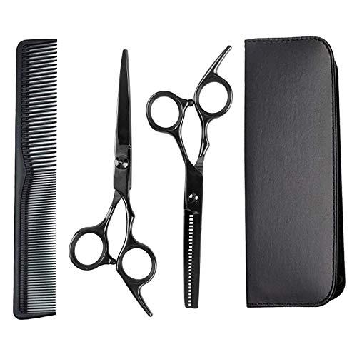 Haarschere Set, GAYISIC Premium Scharfe Friseurscheren, Haarschneideschere Licht Einseitiger Effilierer, Effilierschere - Profi Friseur Schere Haare Perfekter Friseurschere Haarschnitt Frisörschere