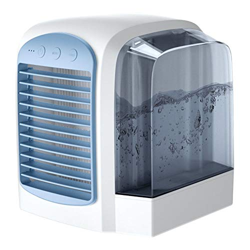 LIPETLI Acondicionador Gran Capacidad de Agua Silent Silent Three Speed Fast refrigerando Aire Acondicionado Ventilador para Escritorio,Azul