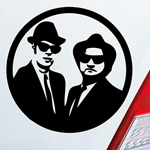Auto Aufkleber in deiner Wunschfarbe Blues Brothers Musik Music Stars Movie 10x10cm Autoaufkleber Sticker Folie