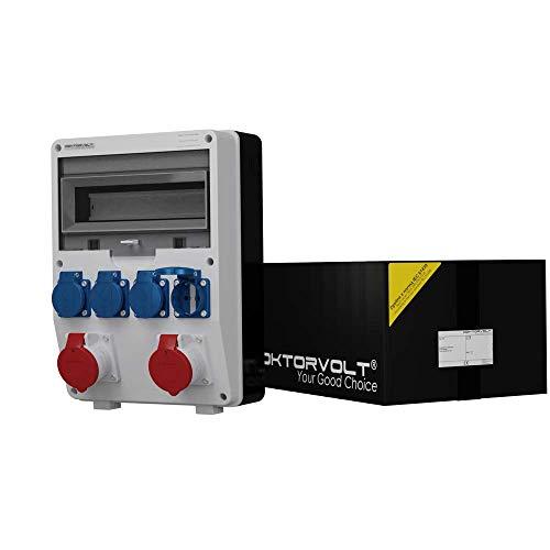 Stromverteiler TD 2x16A 4x230V Wandverteiler Steckdosenverteiler Baustromverteiler 6084