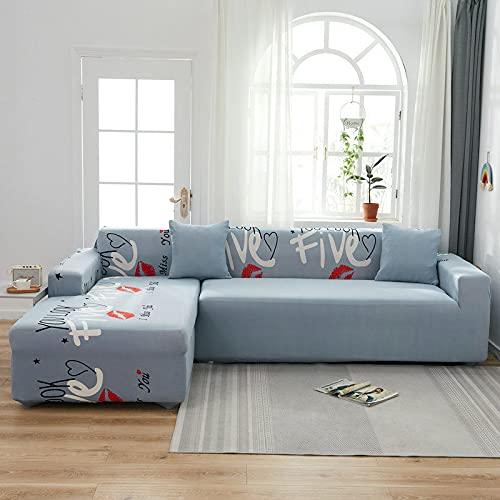 PPOS Fundas de sofá de Esquina para línea sofá Funda de sofá elástica en Forma de l Chaise Longue Fundas de sofá undefined 1-2-3-4 Funda de cojín de Asiento C19 3 Asientos 190-230cm-1pc